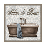 Salon de Bain Square Print by Todd Williams
