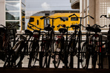 Bicycles at Centraal Station Photographic Print by Erin Berzel