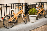 Wooden Bicycles in Amsterdam Photographic Print by Erin Berzel