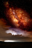 Milky Way and Thurderstorm Photographic Print by Douglas Taylor