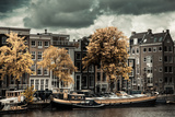 Amsterdam Autumn Colors Photographic Print by Erin Berzel