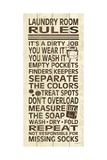Laundry Room Rules III Art by N. Harbick