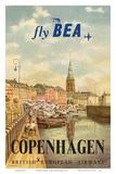 Copenhagen, Denmark - British European Airways (BEA) Poster by Jörgen Brendekild