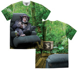 Lazy Chimp (Front/Back) T-Shirts