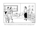 """Our curriculum focusses less on rote memorization and more on putzing aro..."" - New Yorker Cartoon Giclee Print by Alex Gregory"