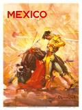 Mexico - Bullfighting Matador Affiche par Carlos Ruano Llopis