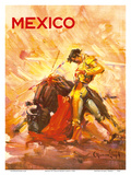 Mexico - Bullfighting Matador Print by Carlos Ruano Llopis