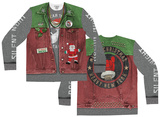 Long Sleeve: Xmas Spirit Ugly Sweater (Front/Back) Vêtements