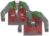 Long Sleeve: Xmas Spirit Ugly Sweater (Front/Back) Koszulki