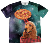 Pizza and Dog Laser Beams (Front/Back) Shirts