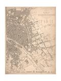 1833 Paris Map Print by N. Harbick