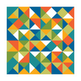 Bright Geometrics I Prints by N. Harbick