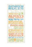 Bathroom Rules I Print by N. Harbick