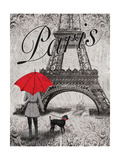 Strolling Paris II Plakater af Todd Williams