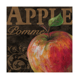 French Fruit Apple Poster by Todd Williams