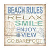 Beach Rules Sq Art by Todd Williams