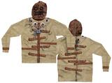 Zip Hoodie: Straight Jacket Mask Hoodie Costume Top (Front/Back) Hettejakke