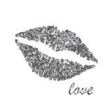Glitter Lips Sq II Posters by N. Harbick