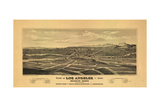 1877 Los Angeles Map Posters by N. Harbick