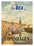 Copenhagen, Denmark - British European Airways (BEA) Posters by Jörgen Brendekild