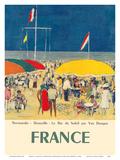 France - Deauville, Normandie (Normandy) - Le Bar du Soleil (The Sunshine Bar) Posters by Kees Van Dongen