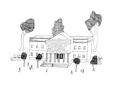 "Museum with the title ""Museum of Art School Portfolios"". - New Yorker Cartoon Premium Giclee Print by Liana Finck"