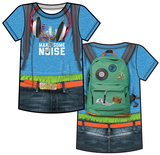 Youth: Da Kid Make Some Noise Costume Tee  (Front/Back) T-Shirts