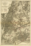 1885 NYC Map Prints by N. Harbick