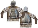 Zip Hoodie: Knight Mask Hoodie Costume Top (Front/Back) Zip Hoodie