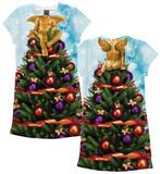 Womans: Christmas Tree X-Mas Dress  (Front/Back) Robe mini