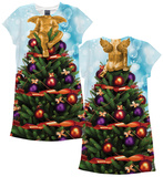 Womans: Christmas Tree X-Mas Dress  (Front/Back) Minikjole