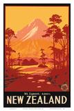 Mount Egmont (Mount Taranaki), New Zealand Prints by Leonard Mitchell