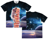 Cheeseburger Space Stack (Front/Back) T-Shirt