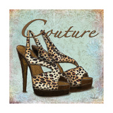 Blue Couture Shoes Print by Todd Williams