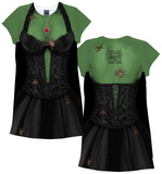Womans: Spider Witch Costume Dress  (Front/Back) Minikleid