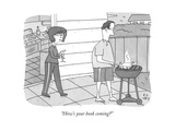 """How's your book coming?"" - New Yorker Cartoon Premium Giclee Print by Peter C. Vey"