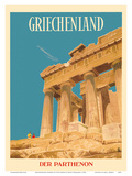 Griechenland (Greece) - Parthenon - Temple of Athena Prints by  Dick Negus & Philip Sharland