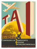 TAI Airline - Most Important French Private Company Poster by  Vic