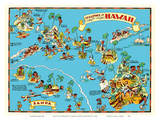 Map of the Territory of Hawaii - American Samoa - Pictorial Map Poster by Ruth Taylor White