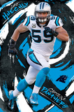 NFL: Carolina Panthers- Luke Kuechly 16 Print