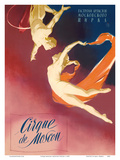 Cirque Moscou (Moscow Circus) - Russian Aerial Trapeze Acrobats Posters by  Pacifica Island Art