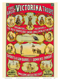 The Great Victorina Troupe - Traveling Magic and Novelty Show Poster by  Pacifica Island Art