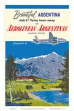 Beautiful Argentina - Aerolineas Argentinas (Argentina Airlines) - Luxurious Douglas DC-6s Prints by Adolph Treidler