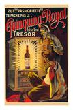 Quinquina Royal - French Liqueur - Est un Vrai Trésor (Is a Real Treasure) Giclee-tryk i høj kvalitet af Eugene Oge