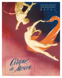 Cirque Moscou (Moscow Circus) - Russian Aerial Trapeze Acrobats Giclee Print by  Pacifica Island Art