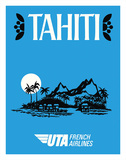 Tahiti - UTA (Union des Transports Aériens) - French Airlines Giclee Print by  Pacifica Island Art