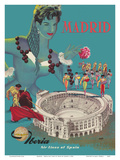 Madrid - Iberia Air Lines of Spain - Plaza de Toros de Las Ventas - Bullfighting Arena Posters by  Goros