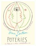 Poteries - Pottery Exhibition at the Tribunal de Pêche de Villefranche sur Mer Giclee Print by Jean Cocteau