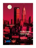 Rediscover New York - Discover Amtrak - Chrysler Building, MetLife Building Premium Giclée-tryk af Bill Carter
