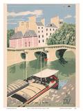 Paris - Le Pont Neuf (New Bridge Seine River) - TAI Airline Posters by Toni Mella